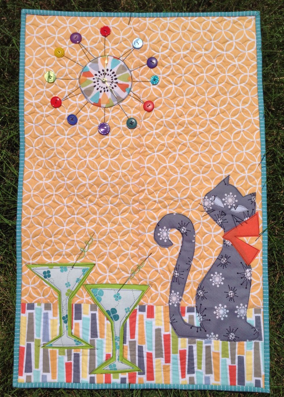 Mid Century Kitty quilt at Sew Mod. Michael Miller challenge. | Cat ...