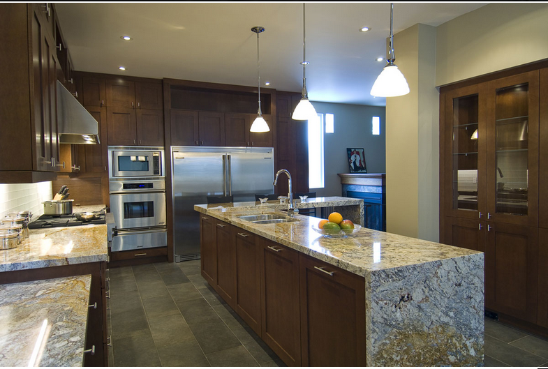 Kitchen Trends Waterfall Edge Counter Tops Kitchen Photos And Countertop
