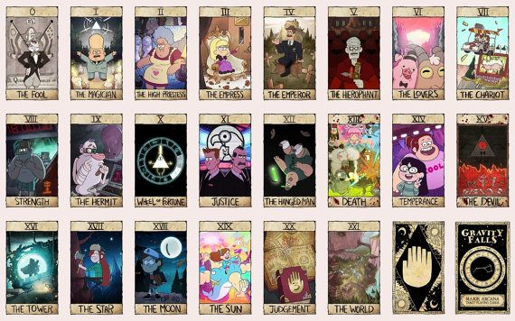 Reverse Falls Will Cipher Wallpaper This Is A Complete Major Arcana Tarot Card Deck Containing