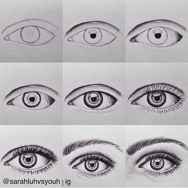 How to draw eyebrows and eyelashes