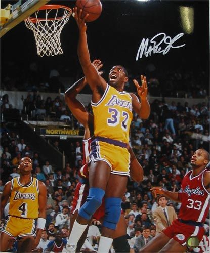 Google Image Result For Http Www Americansportscollectibles Com Images Magic Johnson Signed 8x10 Layup Jpeg Magic Johnson Nba Legends Showtime Lakers