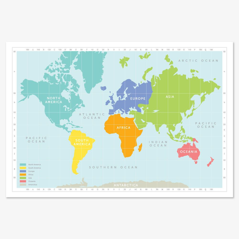 Continental world map print gumiabroncs Image collections