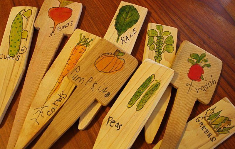 таблички для огорода своими руками