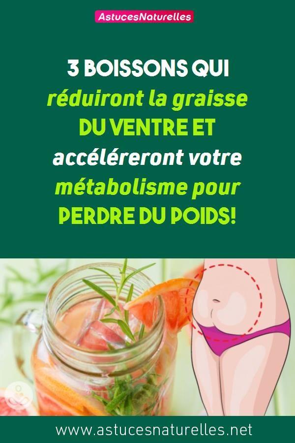 3 boissons qui réduiront la graisse du ventre et accéléreront votre métabolisme pour PERDRE DU POIDS!