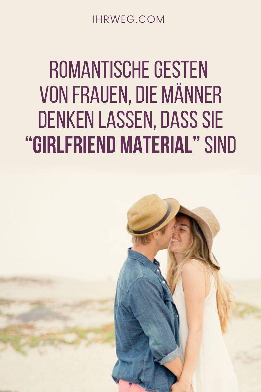 Romantische Gesten Von Frauen, Die Männer Denken Lassen