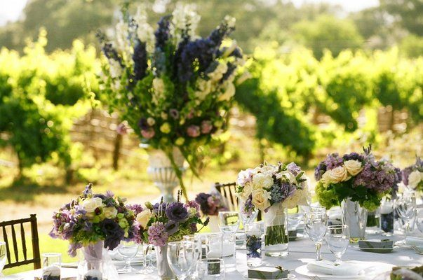 Photo via bouquet wedding purple bouquets and head tables justin alexander helps a bride complete her look and italian wedding theme by sharing the top 6 wedding details including hair accessories shoes junglespirit Images