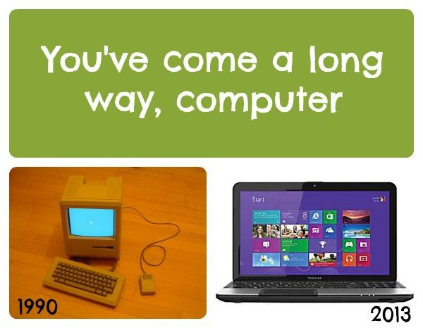 Nothing makes you feel old like realizing how much computers have changed in 23 years.