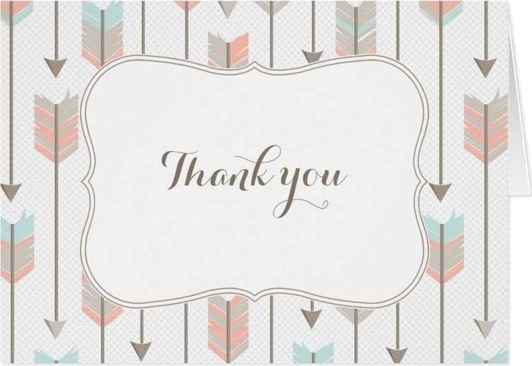 baby shower boho thank you cards