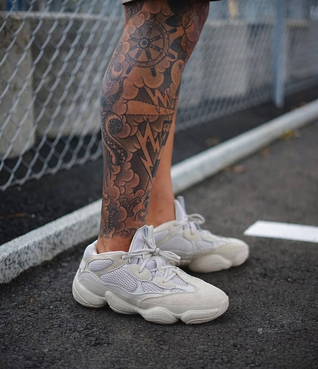 f1923a505f2883   wh1tie  in our invisible socks and the Yeezy 500 desert rats! What do you  think about the bulky dad sneaker style   SNOCKS  socks  sneaker  adidas   yeezy ...