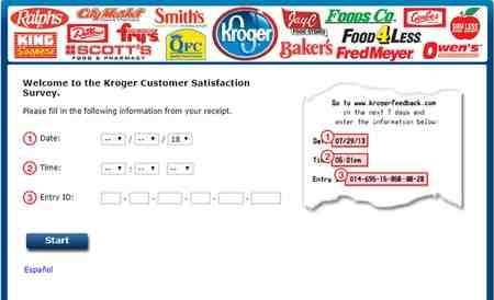 Kroger Feedback Customer Satisfaction Survey Blog Giveaway