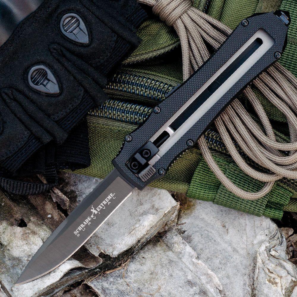Schrade Extreme OTF Assisted Opening Pocket Knife Black