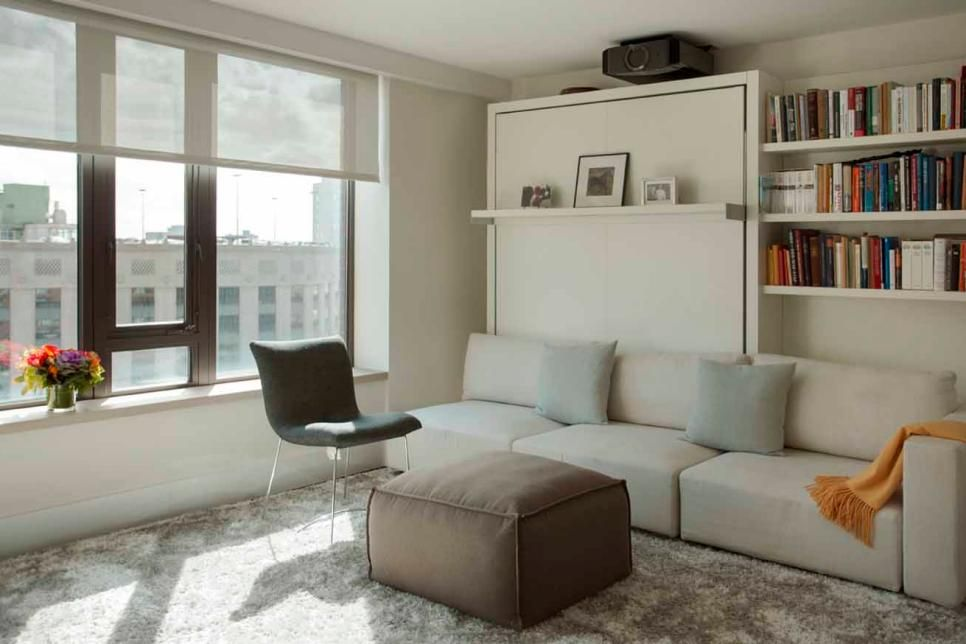 Mix It With Media When Guests Are Visiting A Murphy Bed