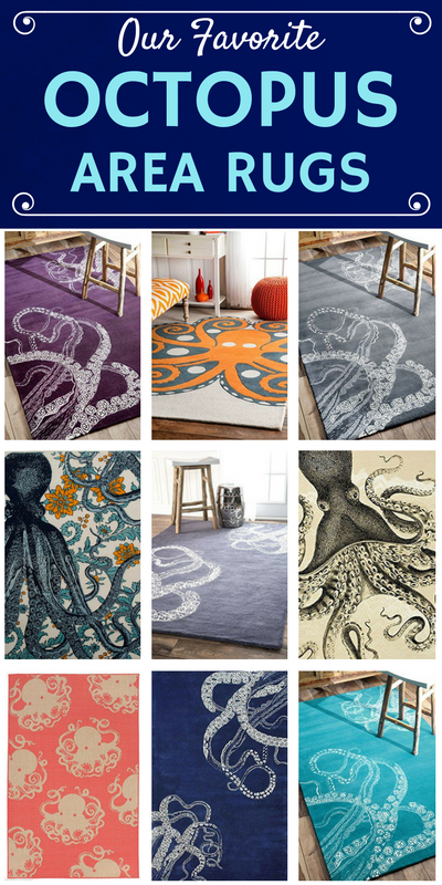 50 Octopus Rugs And Octopus Area Rugs For 2020 Beachfront Decor Area Rugs Rugs Octopus Rug