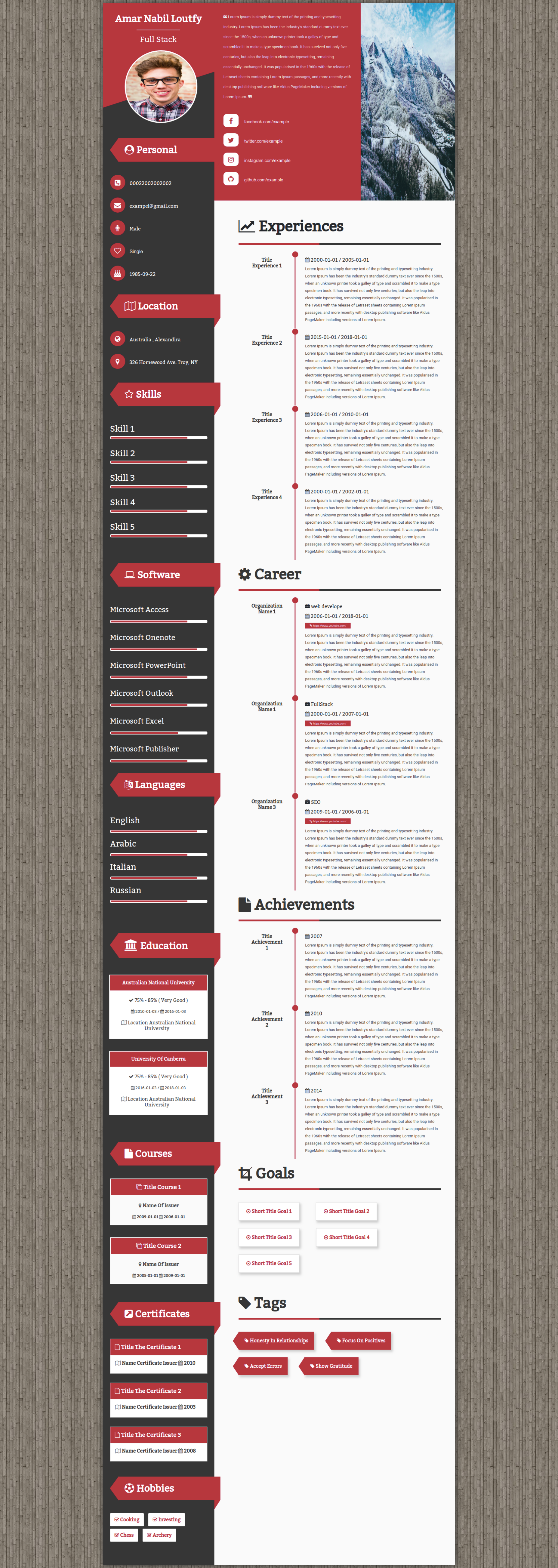 Site To Create A Cv Online Of More Than 35 Different Languages And