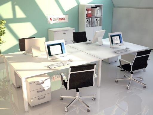 Bureau bench AKKA 4 personnes pas cher 4 puestos modular