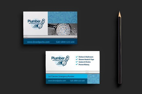 Plumber Business Card Template Business Card Template Business Cards Diy Templates Business Card Template Design