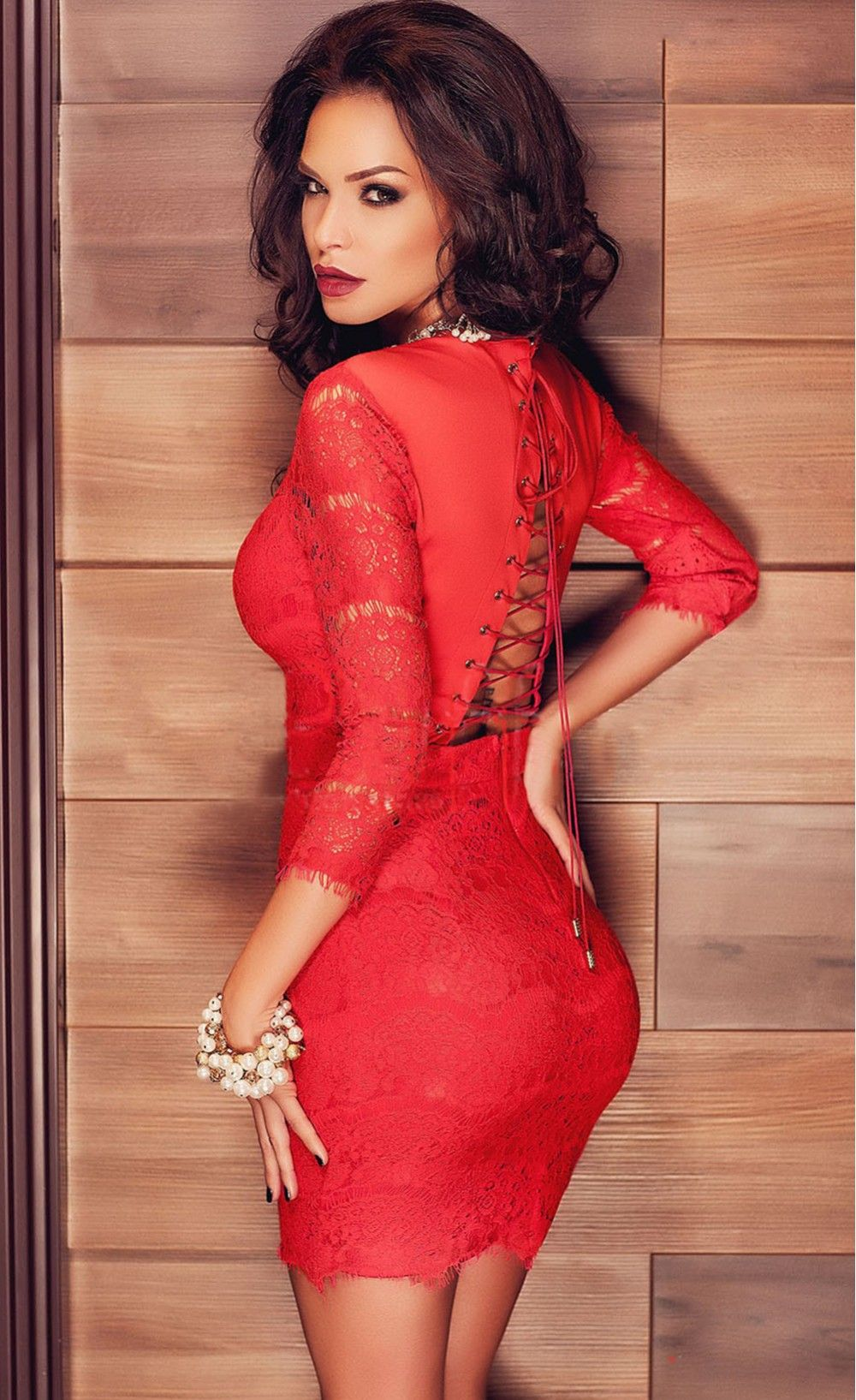 laceup back sleeved lace mini party dress new pinterest