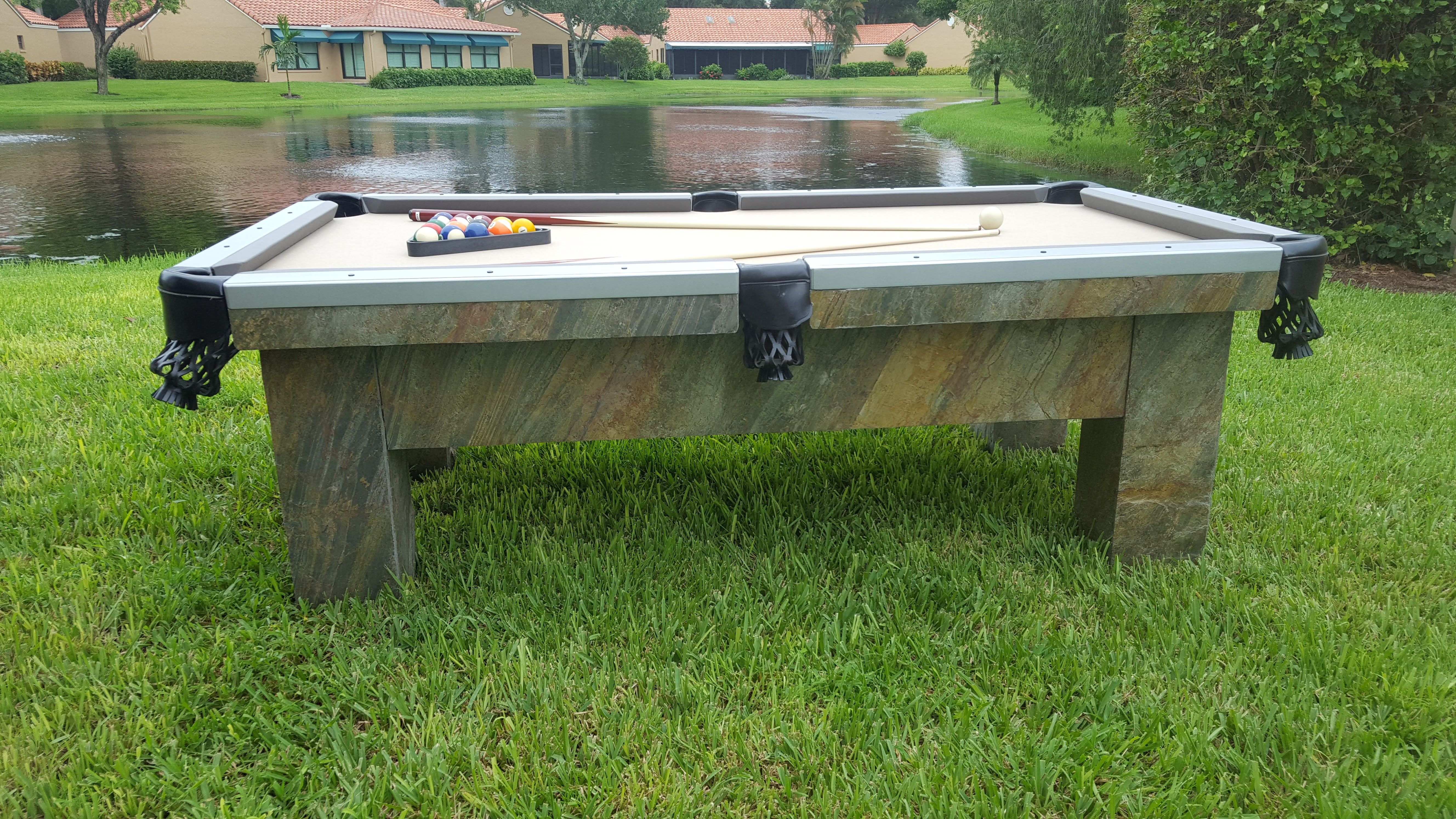 All Weather Billiards And Exceptional Waterproof Outdoor Pool Tables Made In The U