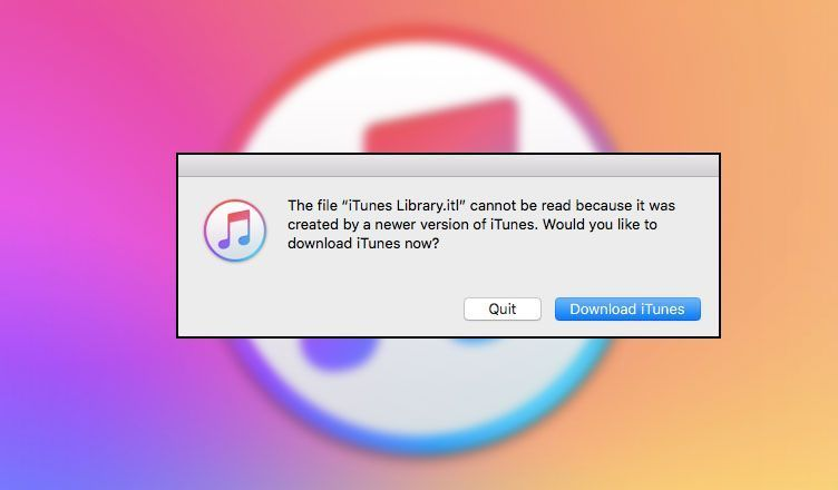 The File Itunes Library Itl Cannot Be Read Occurs When You Switch To An Old Backup Of Your Itunes Library Fix The Error Easily On Maco In 2020 Itunes Reading Fix It