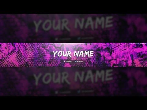 Free Colorful Texture Youtube Banner Template Tutorial