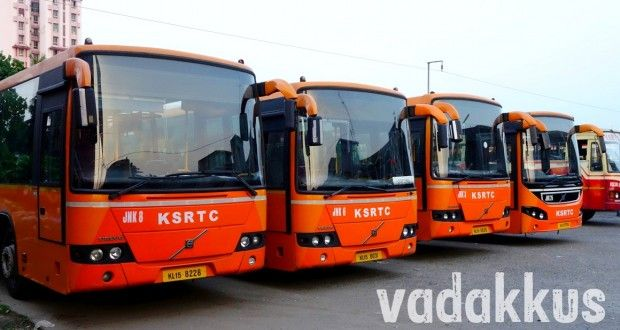 Kochi S Team Oranje Volvo Low Floor Buses Stand In A Row Volvo Bus Bus Stand