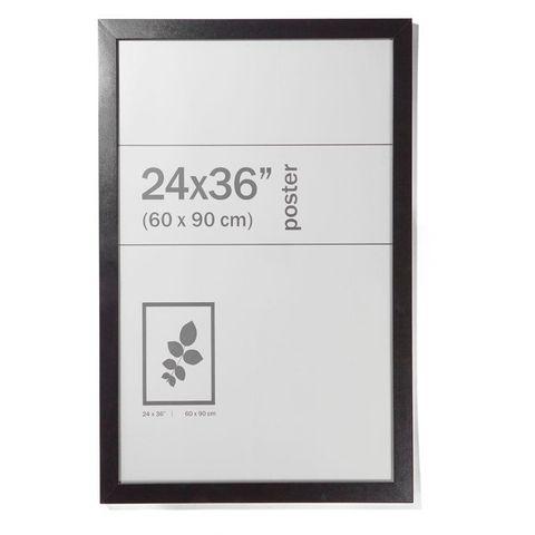 Large Poster Frame - 24in. x 36in. (60cm x 90cm), Black
