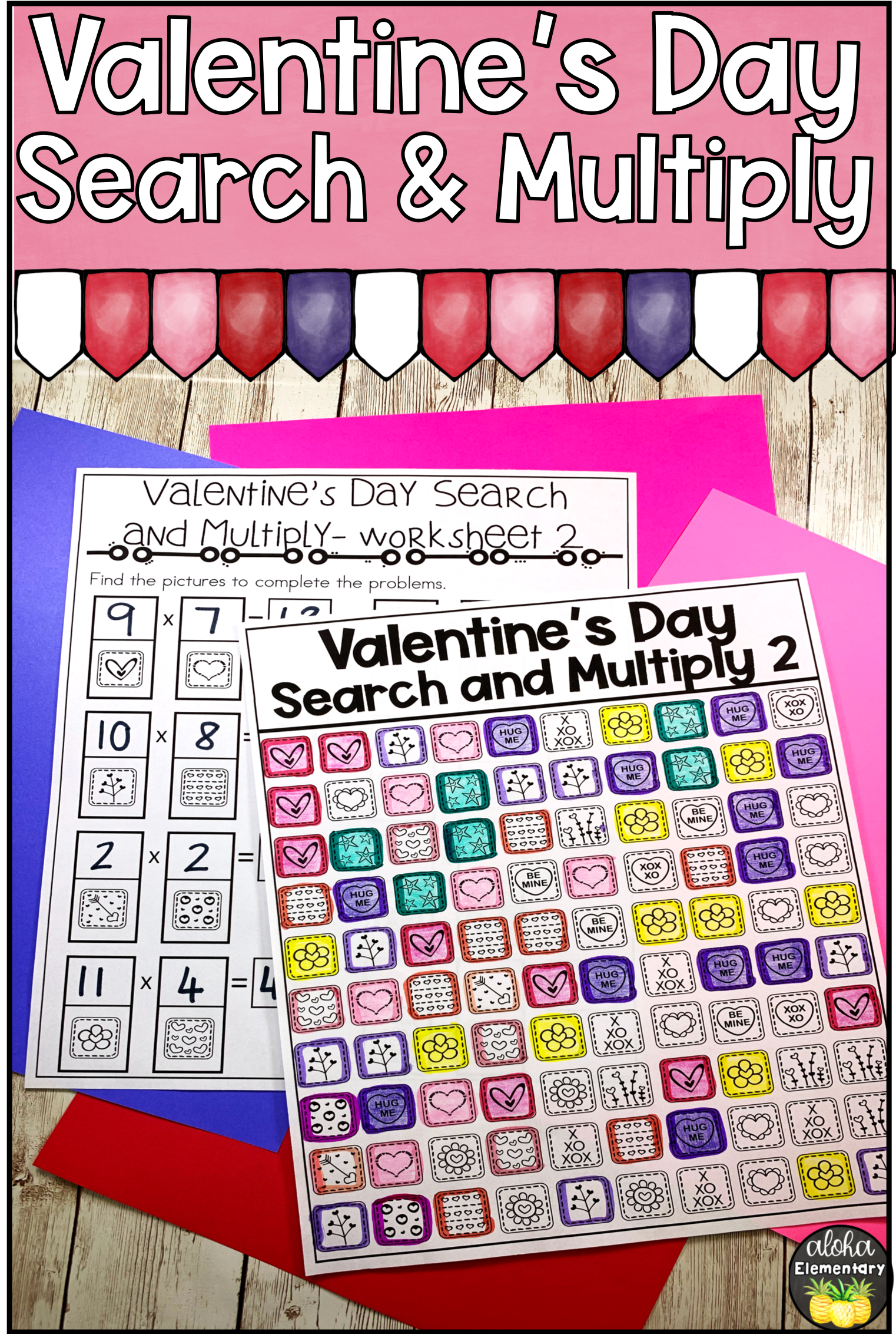 Valentine S Math Multiplication Picture Search