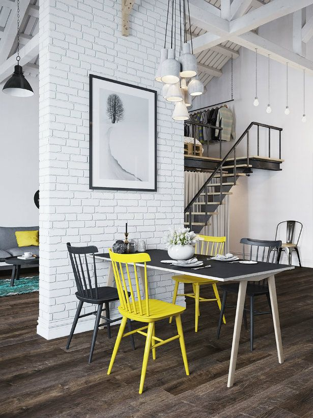 Scandinavian Design Mingles With Industrial Style Scandinavian Interior Design Dining Room Design Interior Design