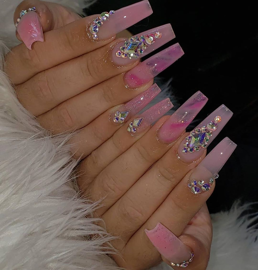 Fashion Baddie Nails Follow The Mainstream Of This Season The First Hand Fashion News For Females In 2020 Acrylic Nails Coffin Pink Coffin Nails Designs Nails