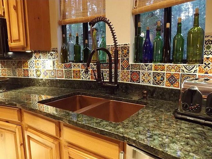 Mexican kitchen decor with wine bottle decor | Decor.net ...