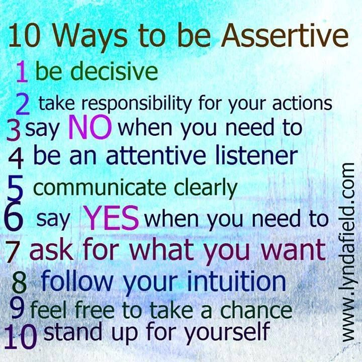 Examples of assertiveness in the workplace