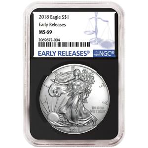 2019-W Proof $1 American Silver Eagle NGC PF70UC FDI Black Label Blue Core