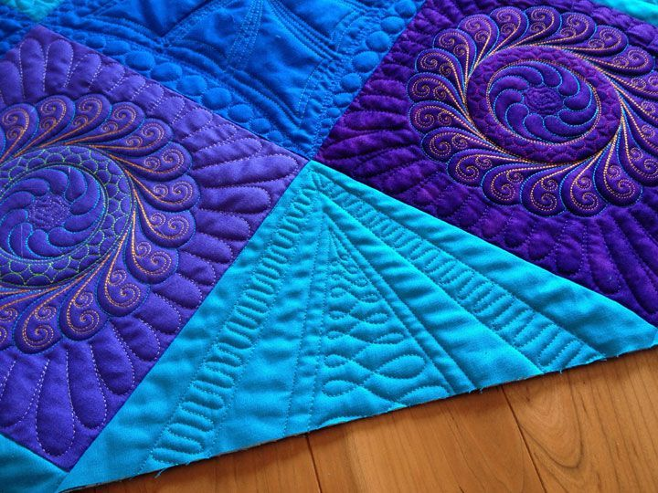 Cant get enough of these vibrant coloured quilts! 💜💙 #Vibrant ... : machine embroidery quilting designs free - Adamdwight.com