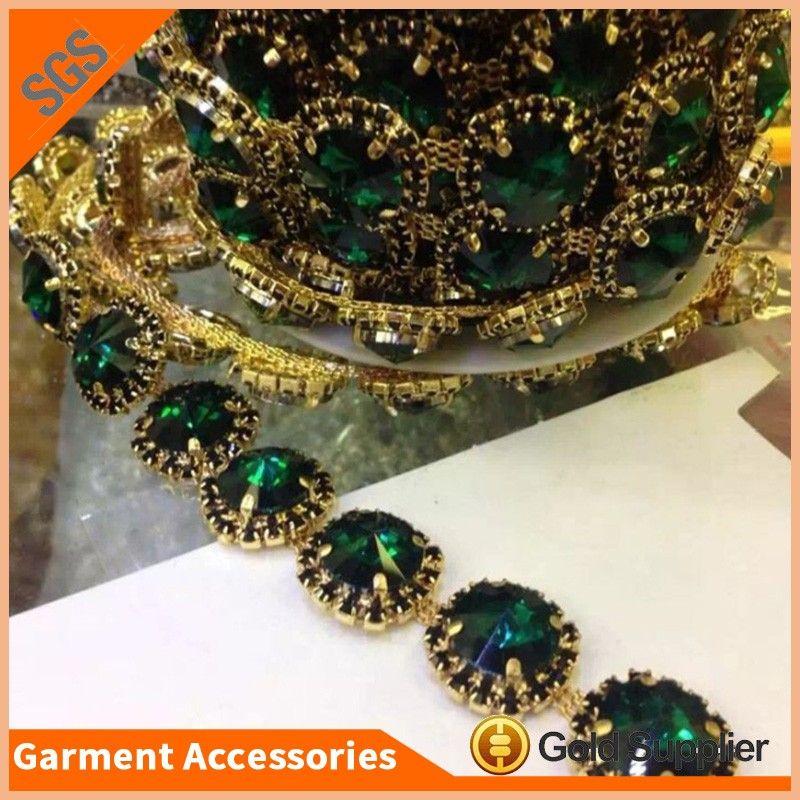 18970f69c Fashion Design Round Crystal Trimming Rhinestone Chain For Wedding Shoes