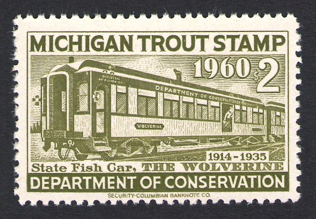 Pin by Waterfowl Stamps and More on Michigan Trout Stamps