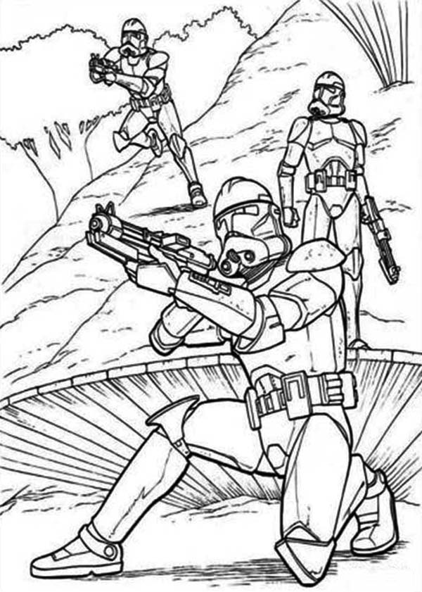 The Clone Troopers Standby In Star Wars Coloring Page Download Print Online Coloring Pages Fo Star Coloring Pages Star Wars Coloring Sheet Star Wars Colors
