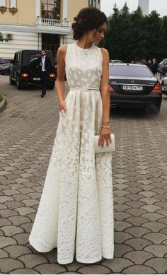 Ivory Charming Prom Dress,Long Prom Dresses,Cheap Prom
