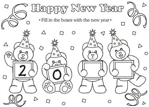 Festive New Year Hat Coloring Page New Year Coloring Pages