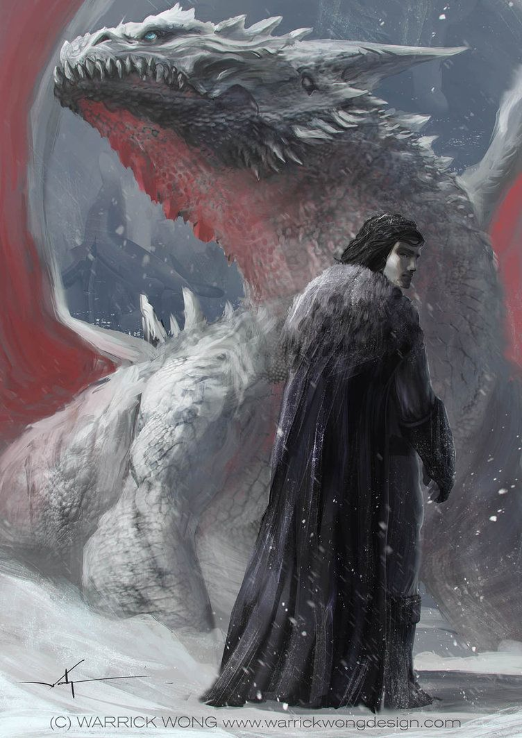 Jon Snow and the Dragon by waLek05, via deviantart