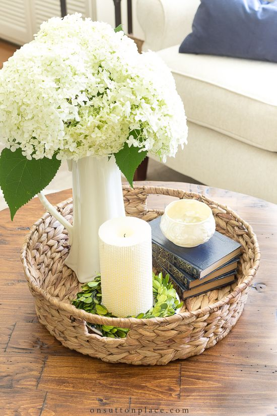 Simple Round Coffee Table Styling Ideas | Coffee table ...