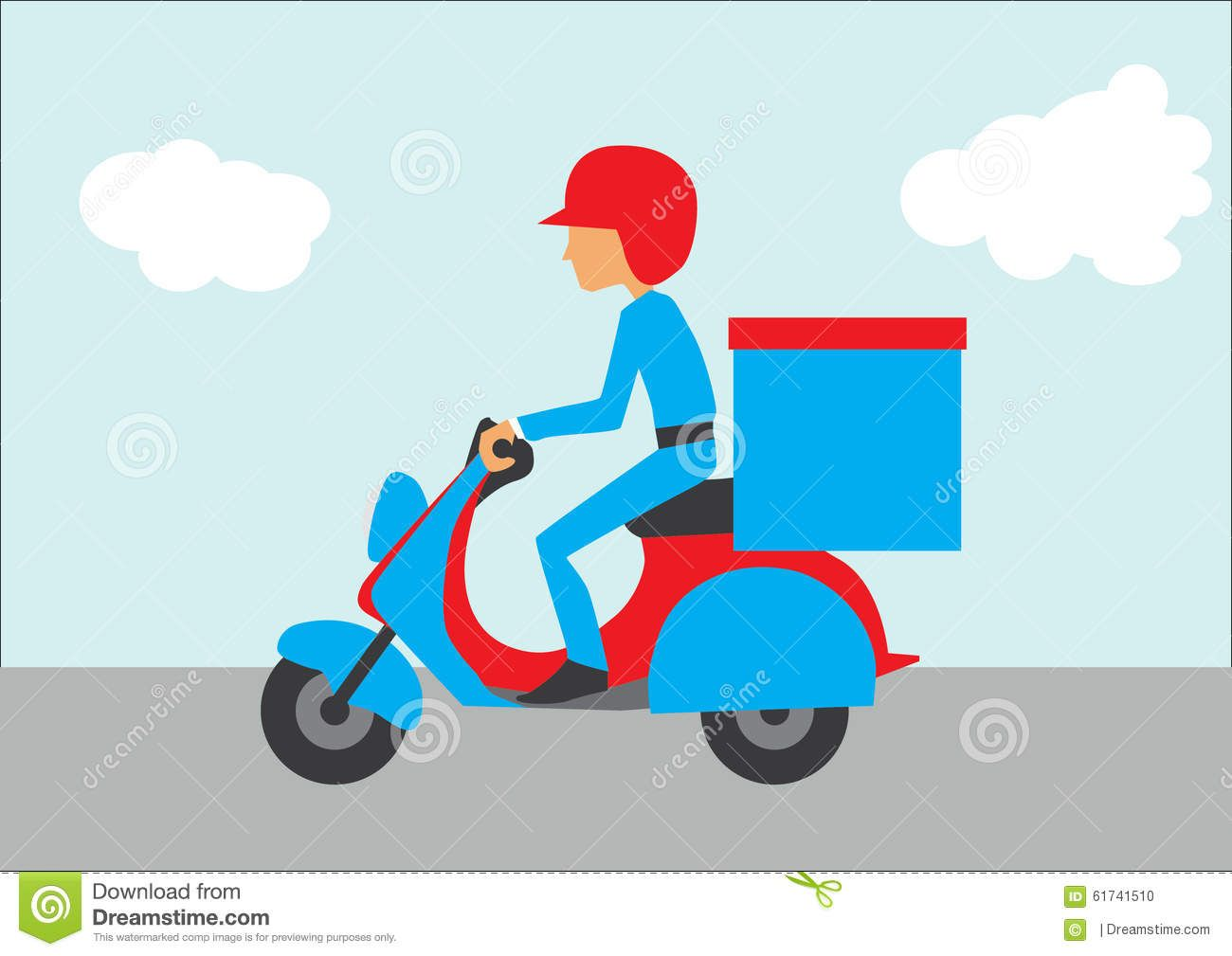 Delivery Motorcycle Stock Vector Image 61741510 Motorcycle