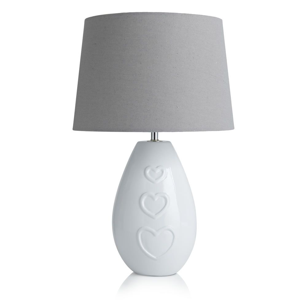 With love table lamp energy saver bulb lights and decor styles wilko with love table lamp aloadofball Gallery
