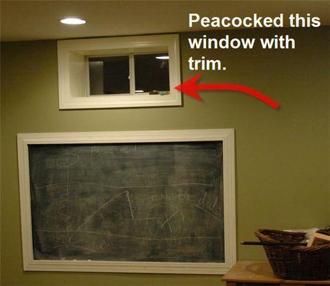 basement idea framed windowdefinitely want the windows framed