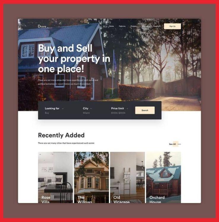 Landing Page Design Real Estate Real Estate Landing Page By Luovastudio7 Land In 2020 Real Estate Landing Pages Real Estate Web Design Real Estate Website Design