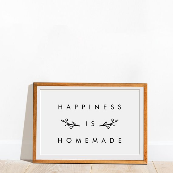 Printable Signs Home Happiness Is Homemade Sign Happiness Is