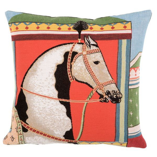 Pondichery horse cushion *cover only*