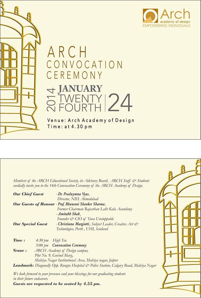 Arch Academy Of Fashion Art Design Management Communication Design College Design Graduation Party Decor