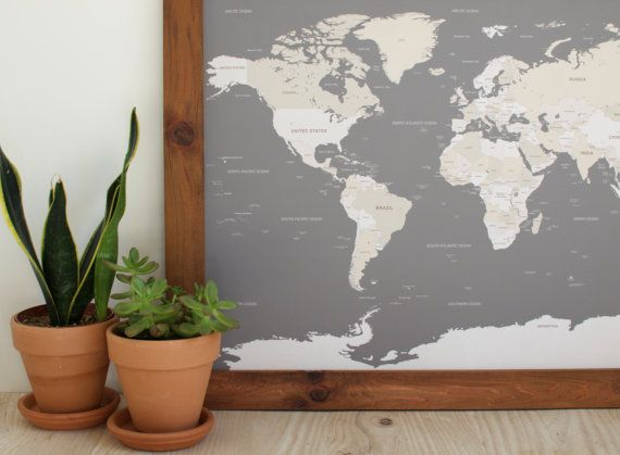 World map push pin travel map world map wedding framed world small push pin world map only countries personalized wedding anniversary gift framed gumiabroncs Images