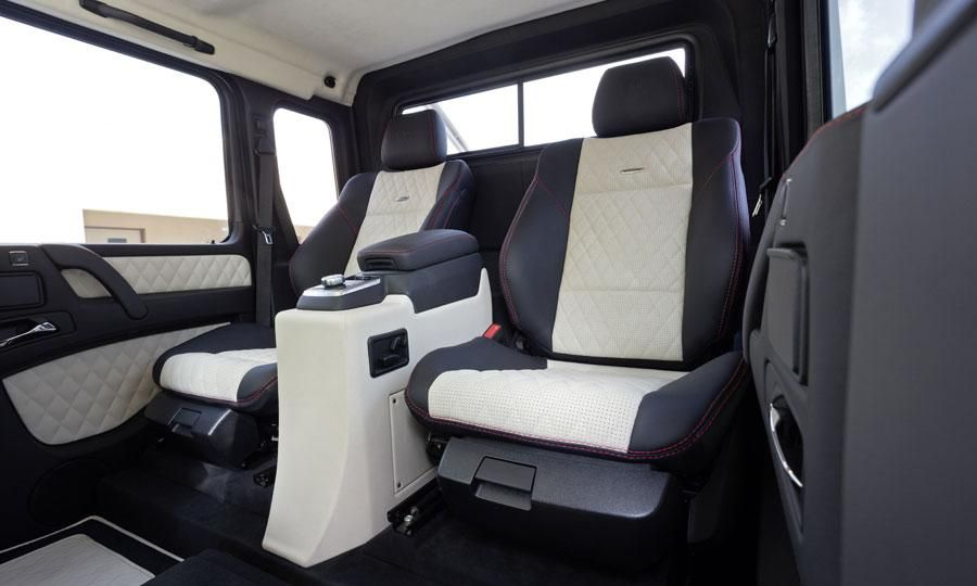 rear passengers in the mercedes benz g63 amg 6x6 get comfy seats and a center - Mercedes G65 Amg 66