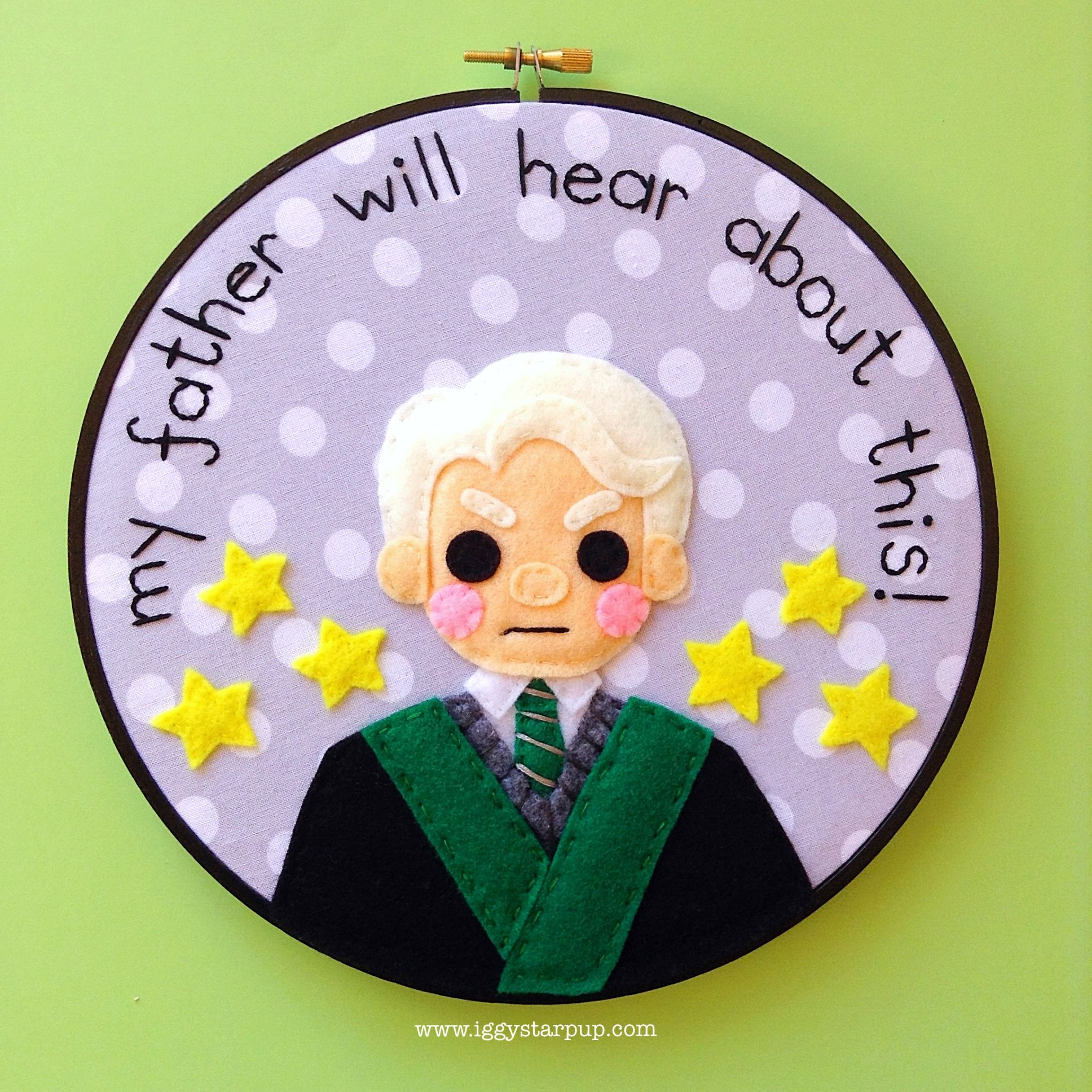 Draco malfoy embroidery 2017 sold harry potter